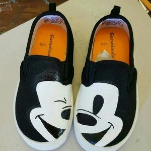 Other - Hand Painted Mikey Mouse Shoes